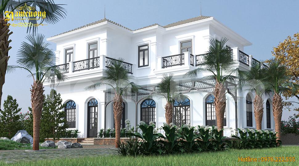 thiết kế biệt thự vườn 2 tầng
