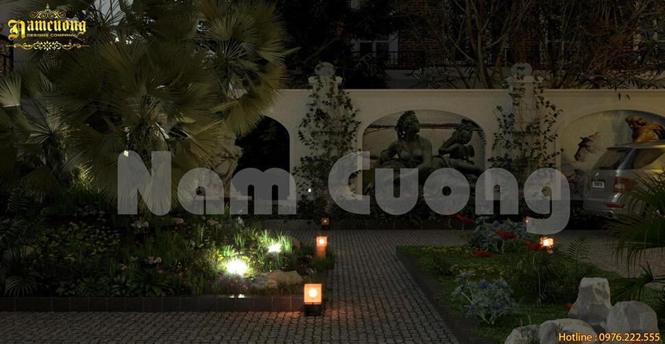 thiết kế đèn thả sân vườn đẹp