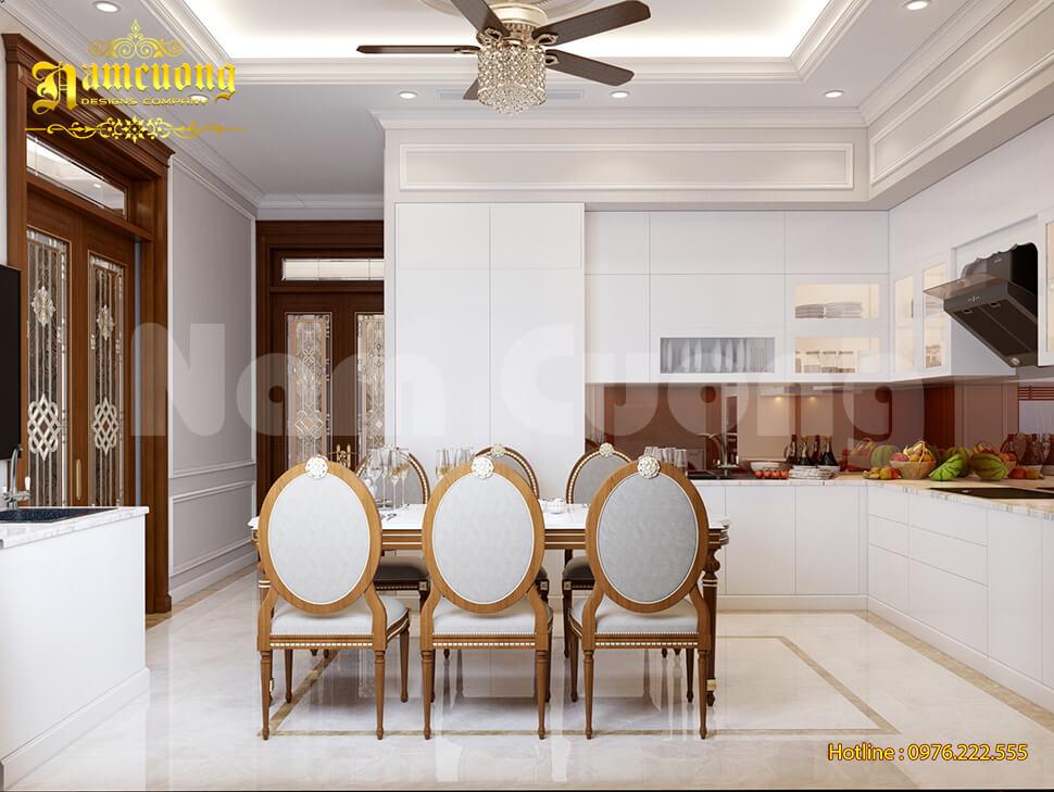 thiết kế bếp biệt thự