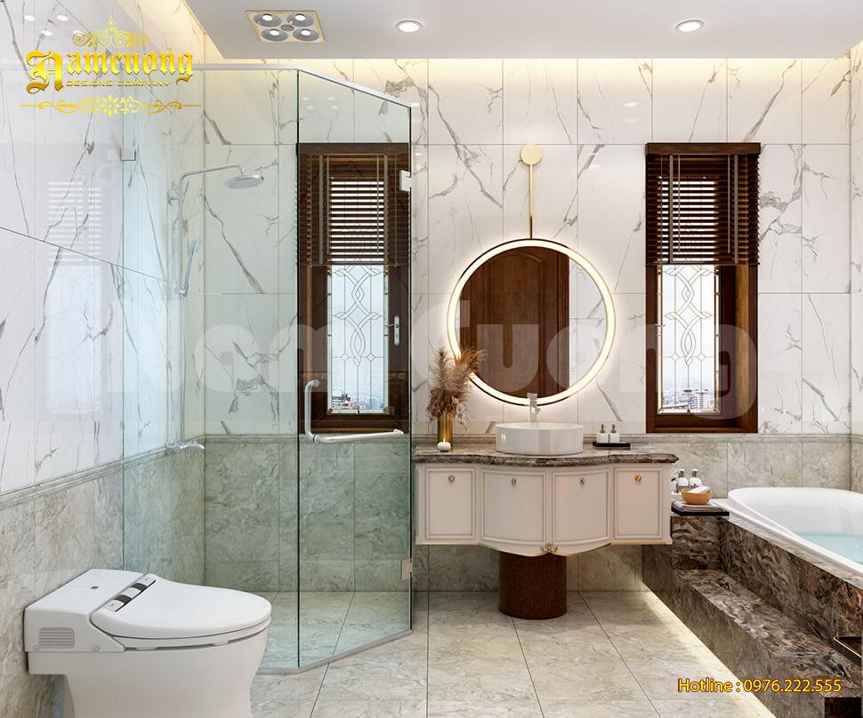 nội thất WC biệt thự 17x22m
